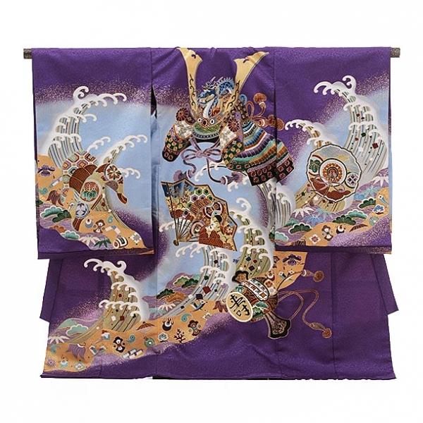 男児産着(お宮参り)1119紫 兜