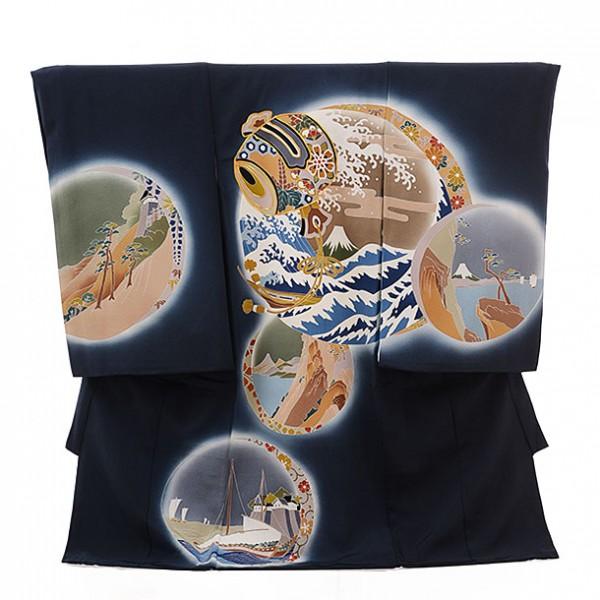 男児産着(お宮参り)1139 葛飾北斎 木版画(正絹)