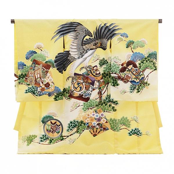 男児産着(お宮参り)1114黄色 鷹