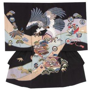 お宮参り男の子2142 黒 /鷹と小槌