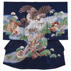 お宮参り男の子 2174 紺/鷹と兜