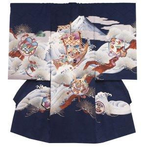 お宮参り男の子2085 濃紺 /宝船