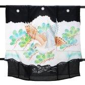男児産着 黒 SB16 高級正絹 五つ紋 絽 夏用