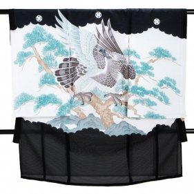 男児産着 黒 SB23 高級正絹 五つ紋 絽 夏用