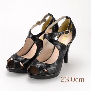 23.0 DURAS ブラック 10cmヒール