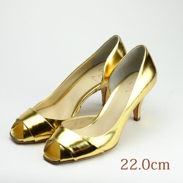 21.0 CUCCO DI MARU 6.5cmヒール ゴールド