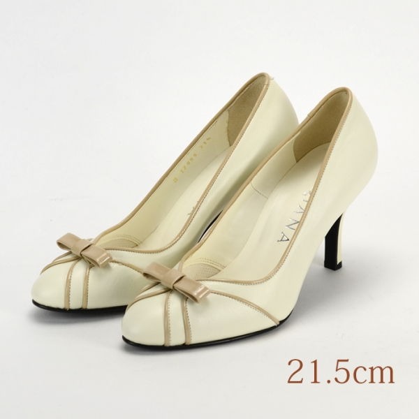 21.5 DIANA パンプス ホワイト 6.5cmヒール