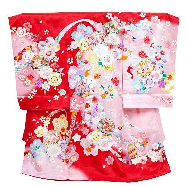 女児産着12-赤×6ピンク・束ねのし