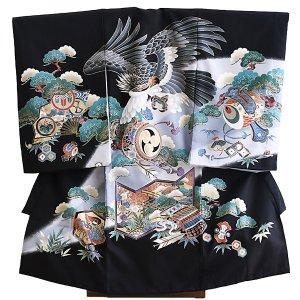産着男児047黒/鷹・つづみ・松