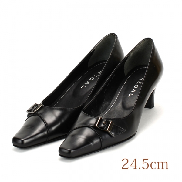 24.5 REAGL 5cmヒール 黒 本皮