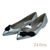 24.0 aquagirl shoes 1.5cmヒール シルバー 本皮