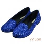 22.5 aquagirl /CROLLA  1cmヒール ブルー ラメ
