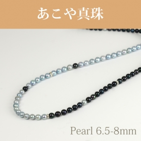 アコヤ(6.5-8mm ロング1連) デザイン NE 103