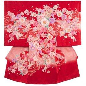 お宮参り女児175 赤地/舞花と毬