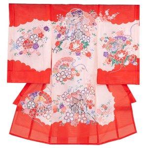 お宮参り女の子29(正絹)ピンク地/毬と華