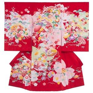 お宮参り女の子132 赤 ×ピンク /貝合わせ