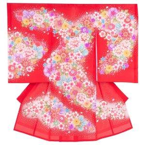 お宮参り女の子20(正絹)赤地
