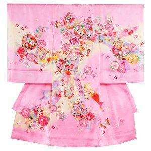 お宮参り女の子174 ピンク /のしと花毬に蝶