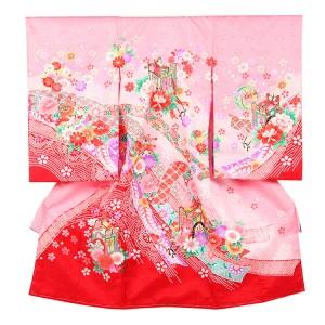 お宮参り女の子188 ピンク /花御所とのしめ