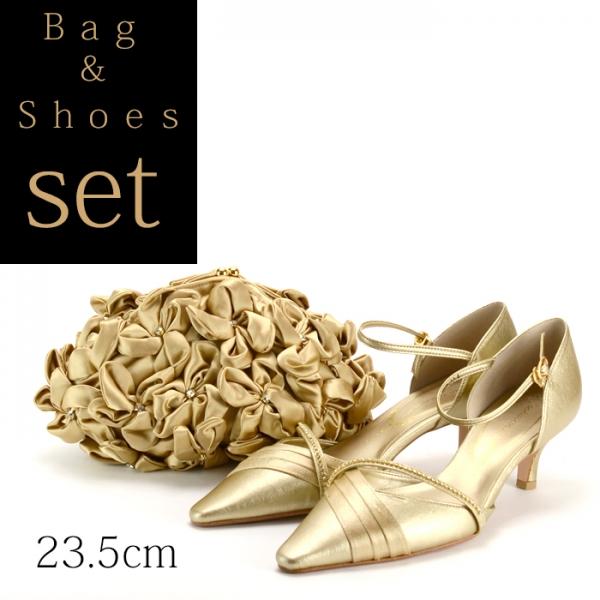 【セット】パーティーバッグ パンプス23.5cm Set010