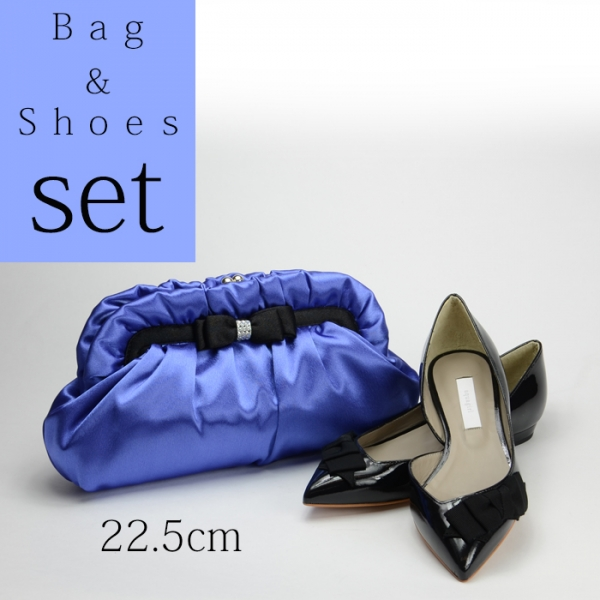 【セット】パーティーバッグ パンプス22.5cm Set002