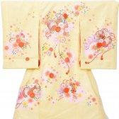 女児産着5n78黄色 つづみ 桜