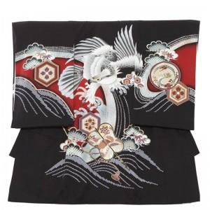 男児産着レンタル(お宮参り)91黒赤鷹