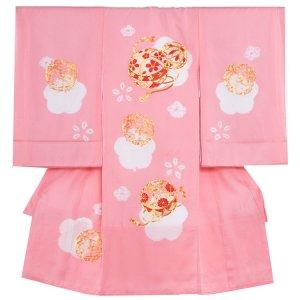 【正絹】お宮参り女の子1295 ピンク