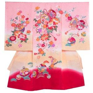 【正絹】お宮参り女の子1140 ピンク /花とつつみ