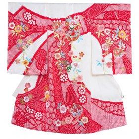 お宮参り女児1019 白地/本絞りと刺繍の技