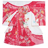 女児産着1019 白地/本絞りと刺繍の技