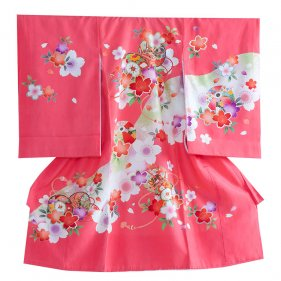 お宮参り女児1114 薄赤/春桜