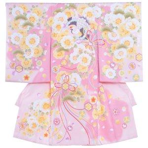 お宮参り女の子1003 淡桃 /橙花と鶴