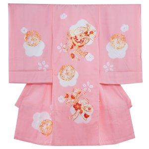 【正絹】お宮参り女の子1296 ピンク