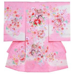 お宮参り女の子1038 ピンク /花御所と小花