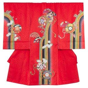 【正絹】お宮参り女の子1080 赤 /小槌と菊