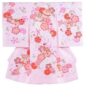 お宮参り女の子1104 ピンクラメ /毬と花