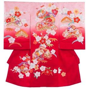 【正絹】お宮参り女の子1306 ピンク 匠の技 最高級手描き