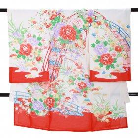 女児産着 SG36 高級正絹 絽 夏用 赤