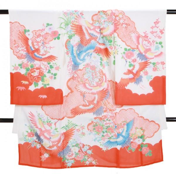 女児産着 SG33 高級正絹 絽 夏用 赤
