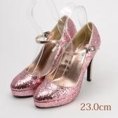 23.0 RYZA  グリッターパンプス 11cmヒール ピンク