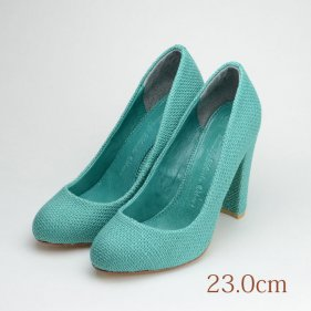 23.0 TSURU 10.5cmヒール グリーン