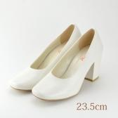 23.5 ウエディングパンプス 7.2cmヒール ホワイト