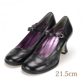 21.5 Anna Sui ブラック 7cmヒール