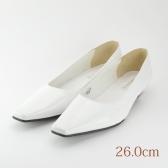 26.0 ウエディングパンプス 2.3cmヒール ホワイト