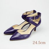 24.5 NINE WEST 5.5cmヒール パープル