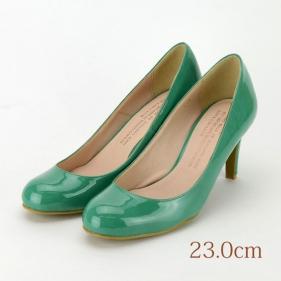 23.0 LOVE COULEUR パンプス グリーン 7.5cmヒール