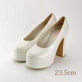 23.5 ウエディングパンプス 11.8cmヒール ホワイト