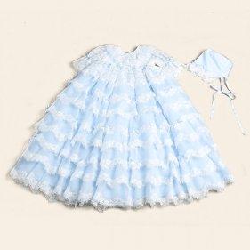 産着 7410 ベビードレス ブルー