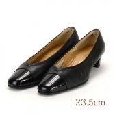 23.5 黒 エナメル 銀座ヨシノヤ 4.0cmヒール